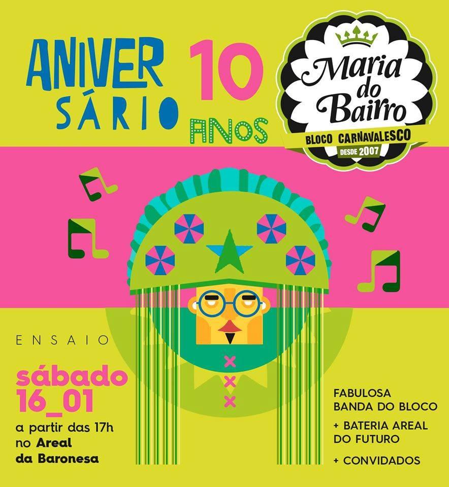 AQUECE MARIA DO BAIRRO 10 ANOS - CARNAVAL 2016